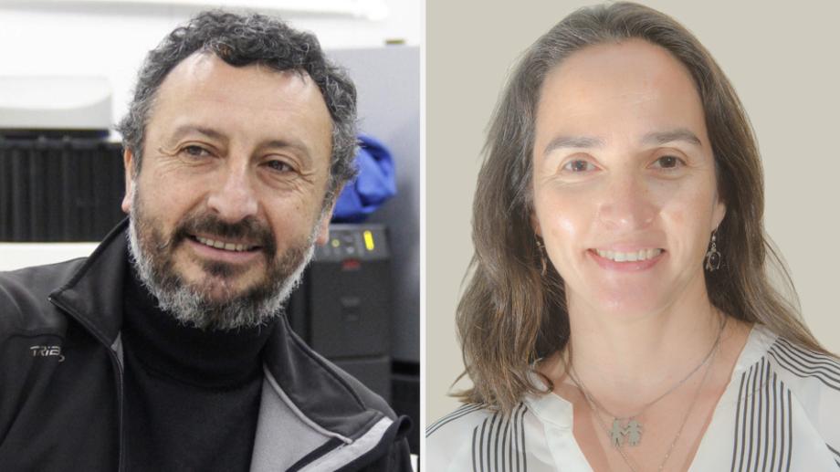 Dr. Silvio Pantoja y Dra. Camila Fernández. Imagen: UDEC/Camila Fernández.