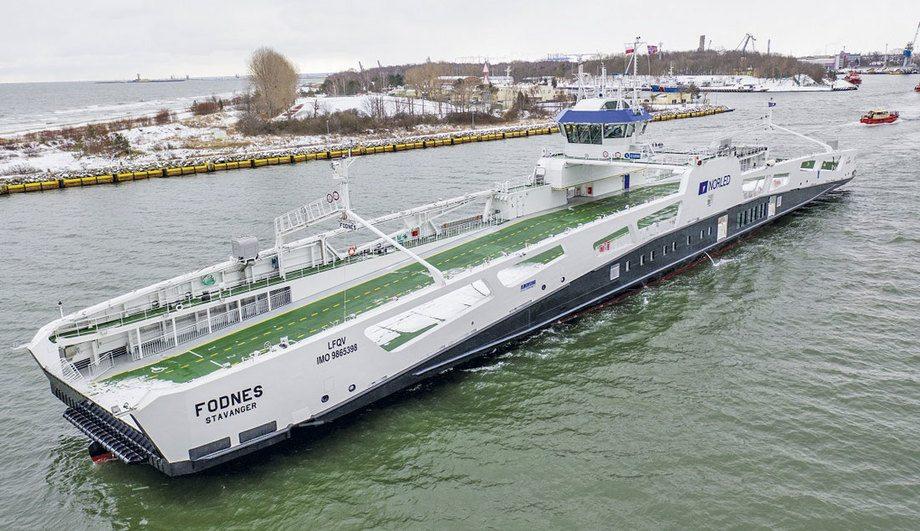 MF «Fodnes» er levert og satt i trafikk for rederiet Norled. Foto: Marcin Koszalka/Portalmorski.pl
