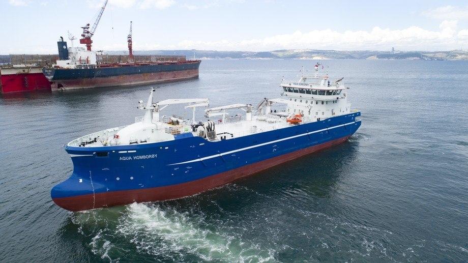 Sefine Shipyard har overlevert den sjette av seks brønnbåter i samme serie til Dess Aquaculture. Foto: Sefine Shipyard