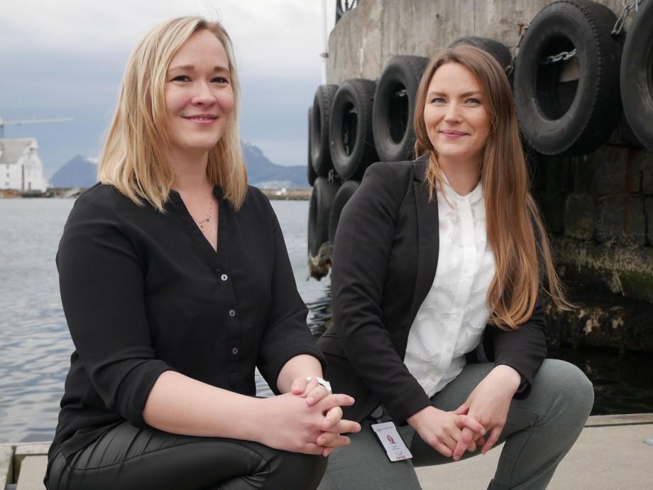 Createview lander storkontrakt med Cermaq - får dispensasjon til digital lusetelling på 18 merder. Avbildet er prosjektleder Nicole Salbuvik og fiskehelsesjef Kristine Braaten SteinhovdenFoto: CreateView.