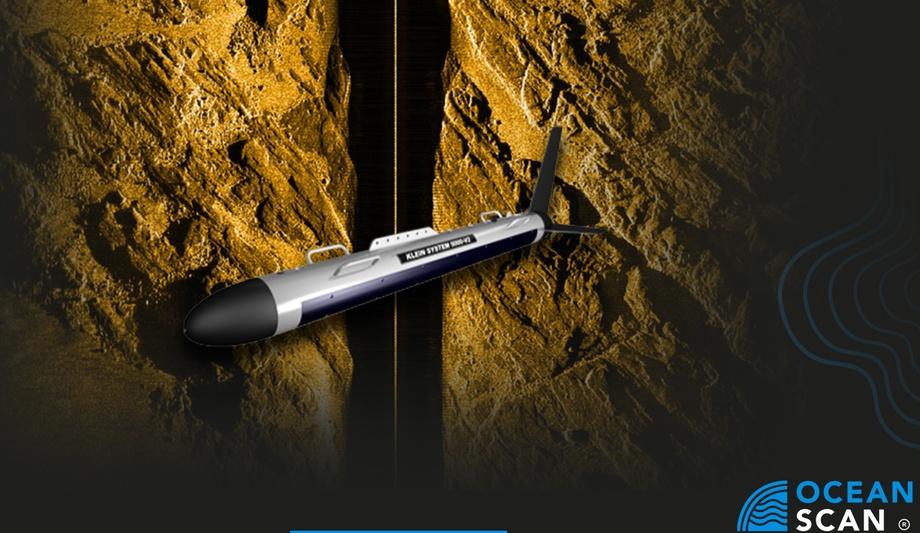Side Scan Sonar Klein 5000, nueva tecnología que operará OceanScan. Imagen: OceanScan.