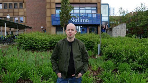 René Alvestad i Nofima disputerte tirsdag for doktorgrad om lakseoppdrett. Foto: Wilhelm Solheim/Nofima