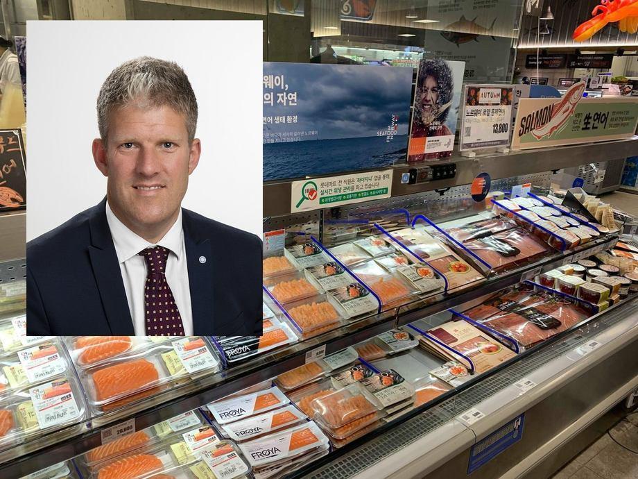 Finn-Arne Egeness de Nordea cree que los precios del salmón seguirán siendo altos hacia el otoño en Noruega. Foto: The Seafood Council y Nordea.