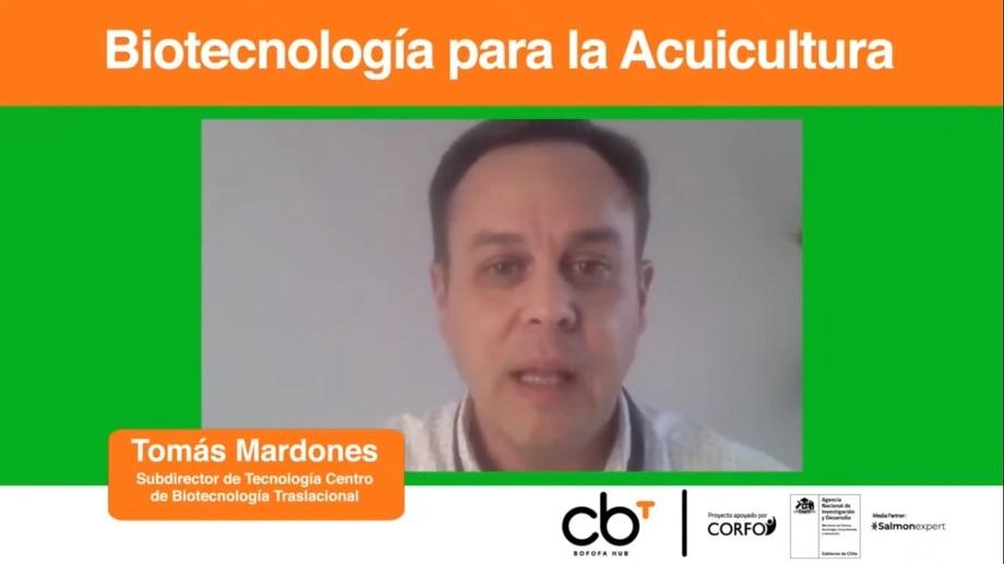 El subdirector de Tecnología del CBT de Sofofa HUB, Tomás Mardones, dirigió la iniciativa. Foto: Salmonexpert.
