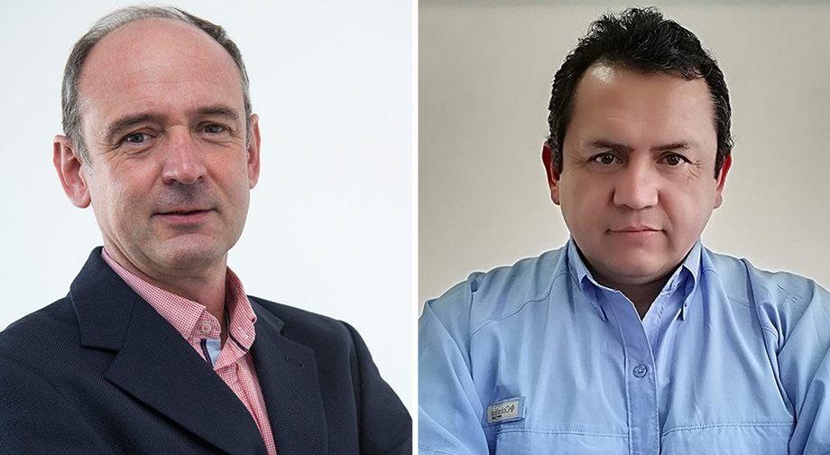 Carlos Lobos, Business Unit Director de Pharmaq Analytiq Chile y Jaime Coronado, jefe área Ecografía de Pharmaq Analytiq Chile. Imagen: Pharmaq.