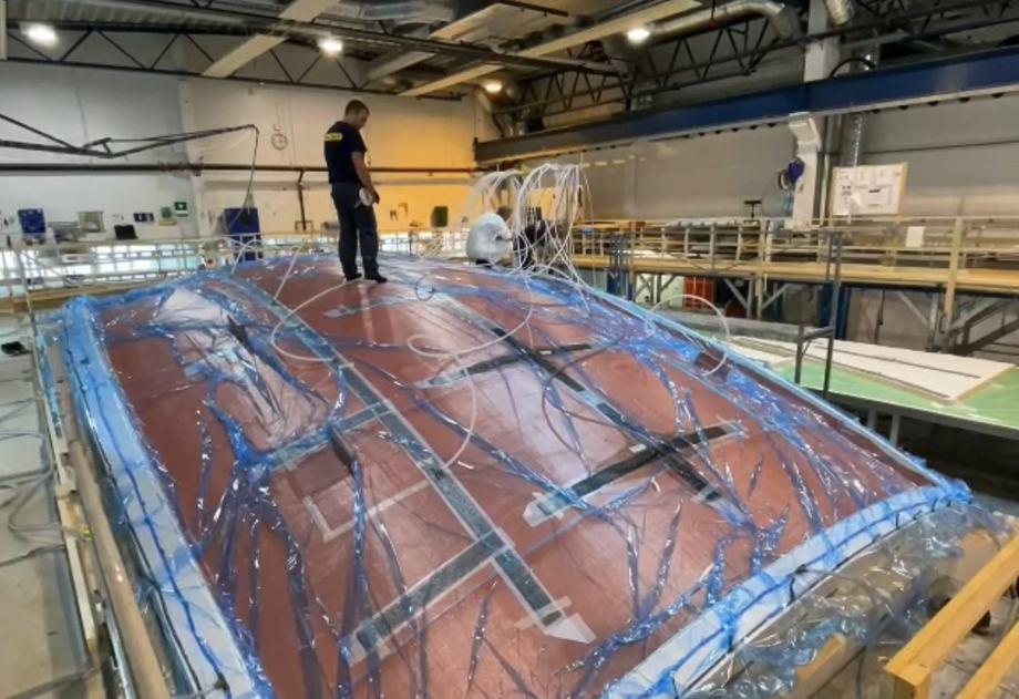 La construcción del E2000. Foto: Kyst.no.