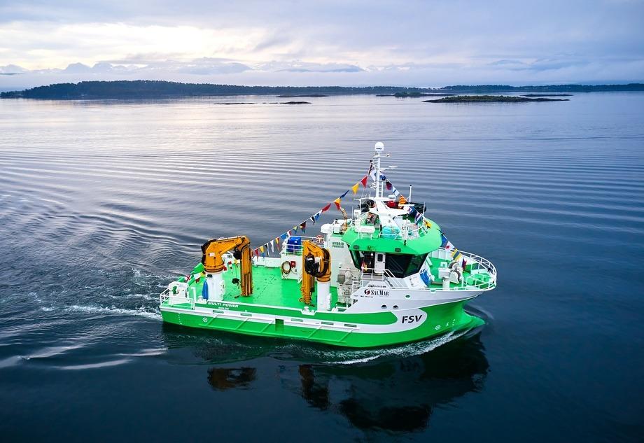«Multi Power» er søsterskipet til «Multi Energy» som ble levert tidligere. Foto: Brunes Foto
