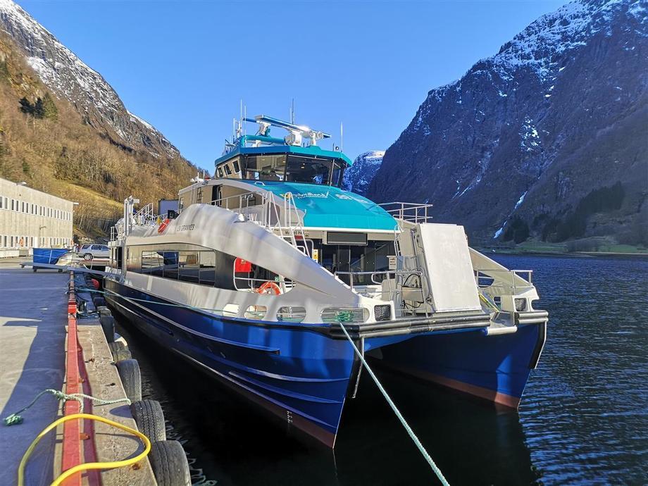 MS «Liv Grannes» er den fjerde av fem hurtigbåter som Brødrene Aa leverer til Nordland Fylkeskommune de siste to årene. Foto: Brødrene Aa