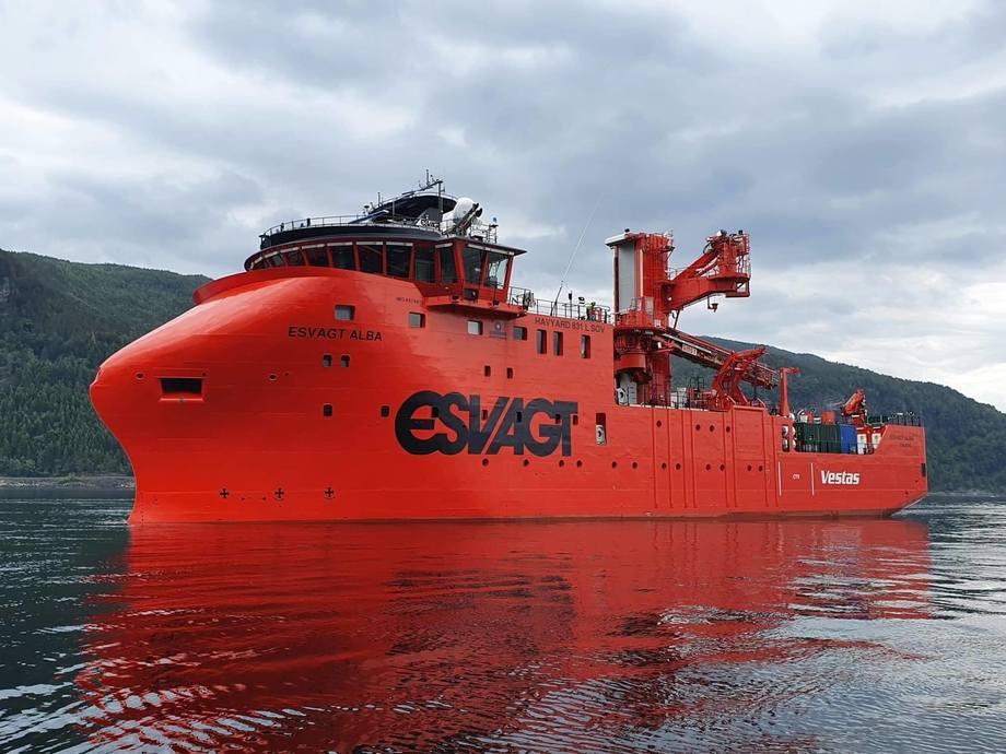«Esvagt Alba» er det femte og siste fartøyet Havyard Leirvik leverer til Esvagt. Foto: Havyard Leirvik
