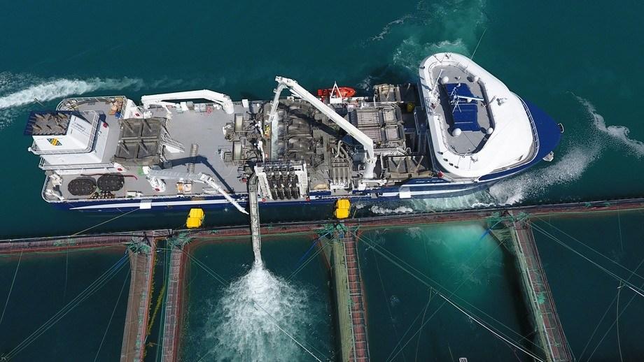Optilicer Ultra ombord på «Kristoffer Tronds» håndterer 600 tonn fisk hver time, noe som er dobbelt så mye som den originale Optilicer. Foto: Optimar