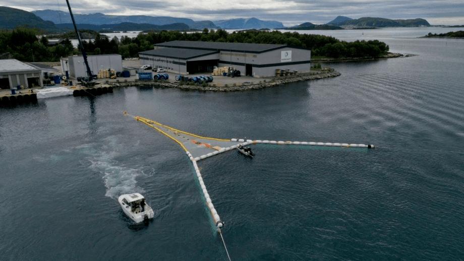 El sistema de retención System 002 se está probando en Noruega. Foto: Mørenot.
