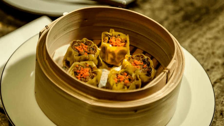 Siu mai (Chinese steamed dumplings) made with cell-based shrimp. Photo: Shiok Meats.