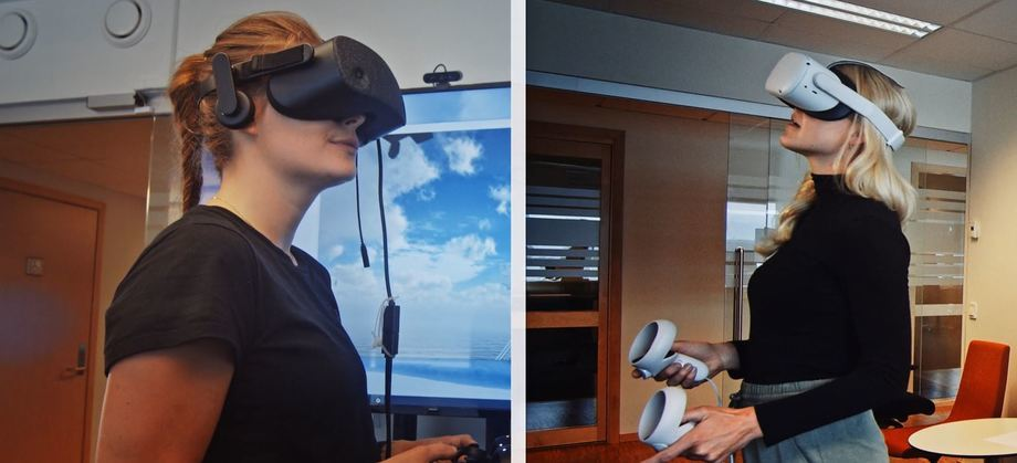 Así se ve cuando dos personas en lados opuestos trabajan juntas en realidad virtual. Foto: Motus Technology.