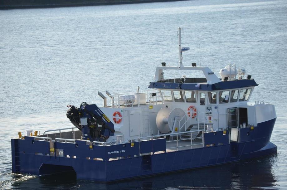 Bildet viser en tidligere leveranse til Grieg Seafood, bygg nummer 200, «Repvåg» levert i 2019. Foto: Promek