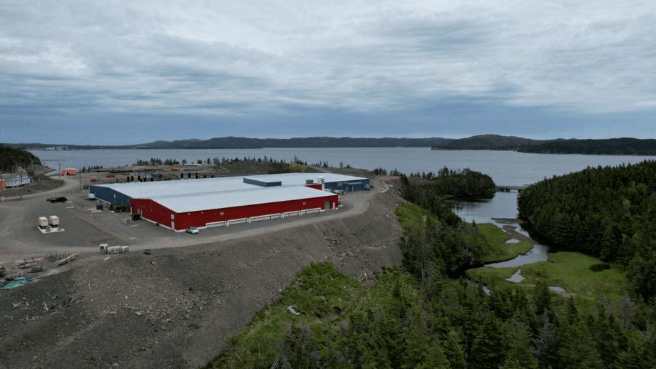 Grieg's hatchery and smolt facility in Marystown, NL, Atlantic Canada. Photo: Grieg.
