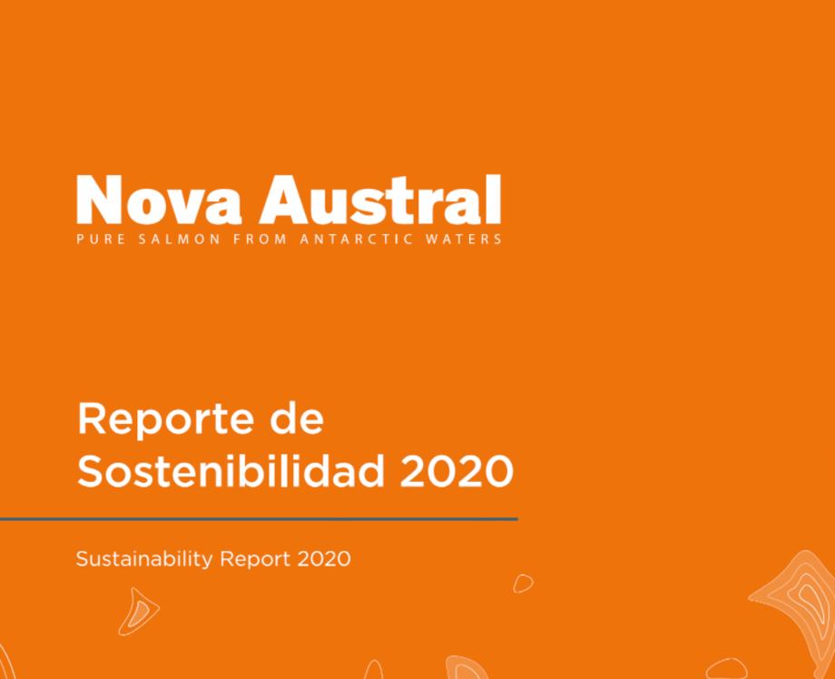 Portada de Reporte de Sostenibilidad de Nova Austral.