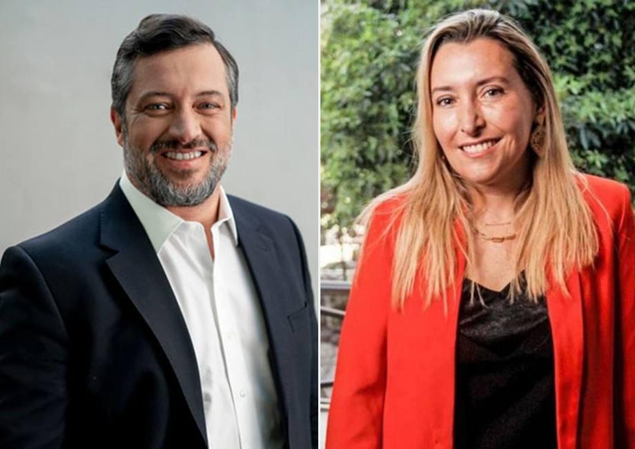 Sebastián Sichel, candidato a la presidencia de Chile, y Victoria Paz, su Jefa de Programas.