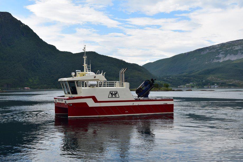 «Haukøy» er den syvende båten Grovfjord Mek leverer til Eidsfjord Sjøfarm. Foto: Grovfjord Mek