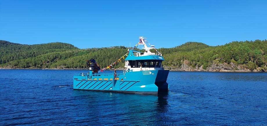 MS «Lysing» heter den nye båten til Fylkesnes Fisk. Foto: Sletta Verft