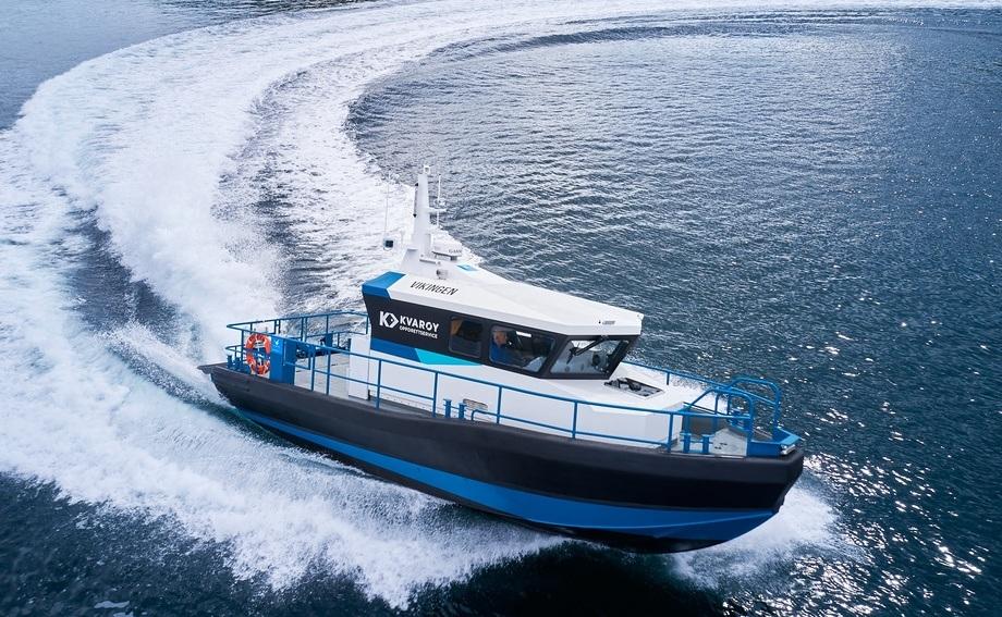 «Vikingen» er første båt av typen FF35Z MK2 som leveres fra Hukkelberg Boats.  Foto: Brunes Foto
