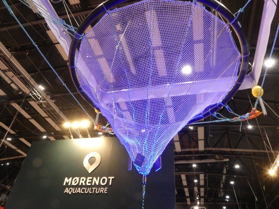 Nueva jaula presentada en el marco de Aqua Nor 2021. Foto: Ole Andreas Drønen.