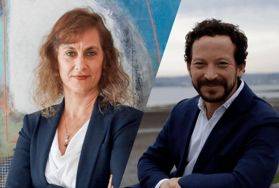Directora del Consejo del Salmón, Joanna Davidovich y Carlos Odebret, presidente de la Asociación de Salmonicultores de Magallanes. Imagen: Salmonexpert.