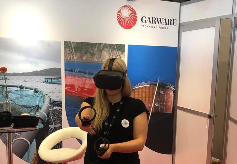 Garware llevóa los clientes y visitantes a sus fábricas en India a través de realidad virtual. Foto: Garware.