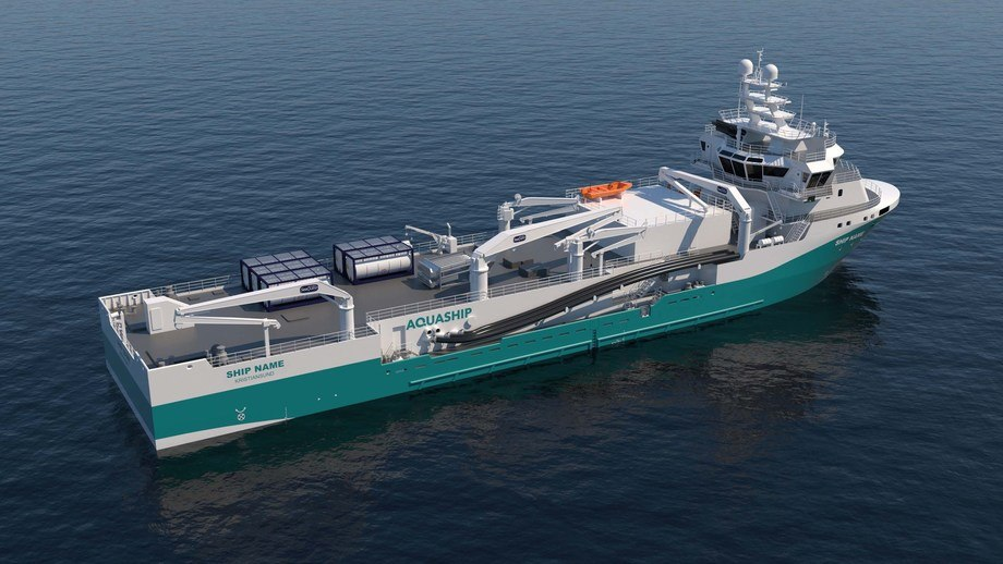 AquaShip's PSVs will look like this once they have been converted into wellboats. Image: AquaShip.