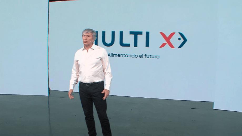 Multi X executive president José Ramón Gutiérrez introduces the company's new corporate branding.