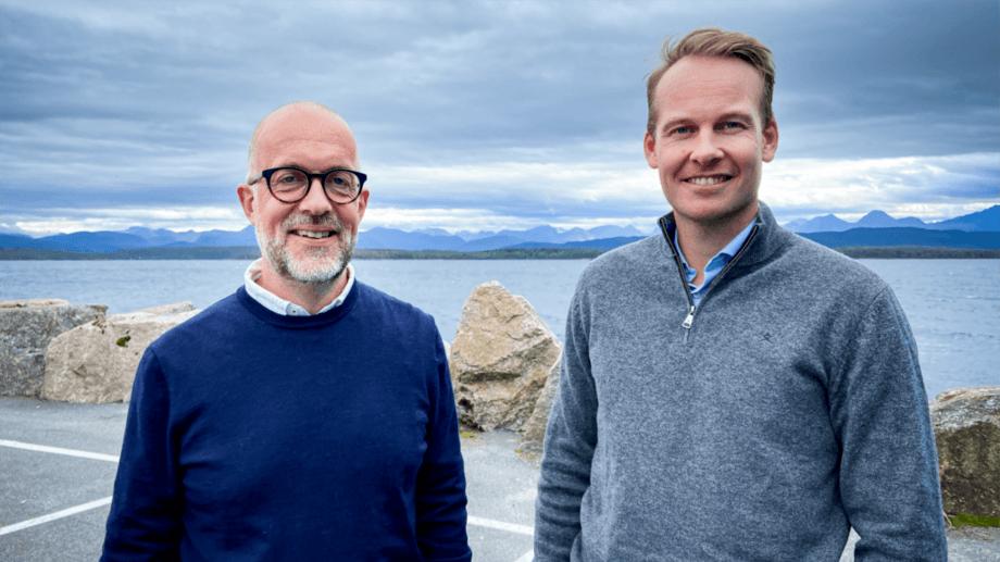 Maritech executives Oddvar Husby, left, and Thomas Brevik. Maritech now has full ownership of Icelandic company Sea Data Center. Photo: Maritech.