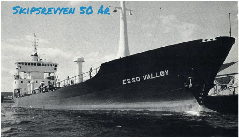 «Esso Valløy» var det siste nybygget som ble levert fra Seutelvens Mek. Verksted i Fredrikstad. Foto: Skipsrevyen
