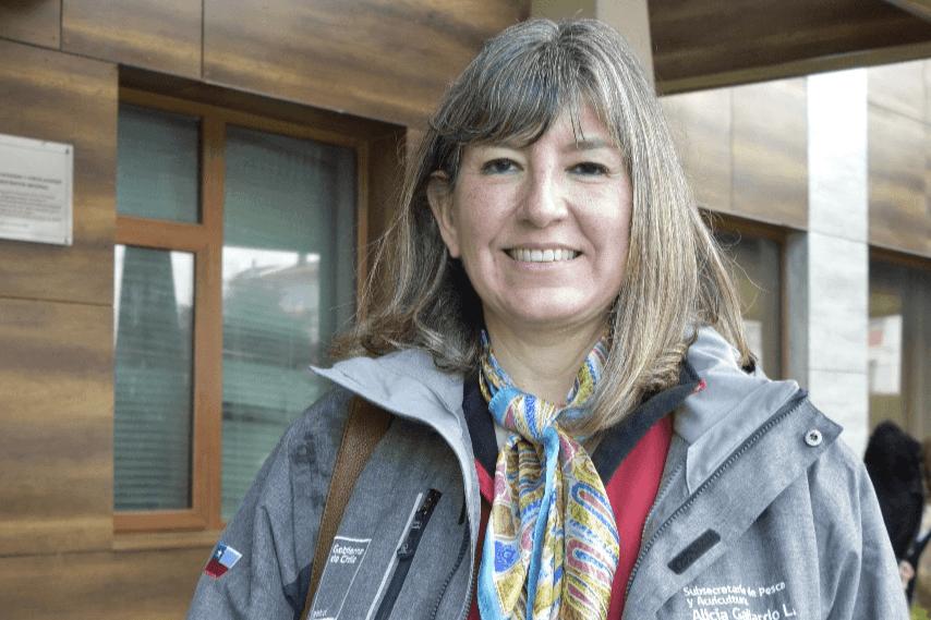 Subsecretaria de Pesca y Acuicultura, Alicia Gallardo. Foto: Salmonexpert.