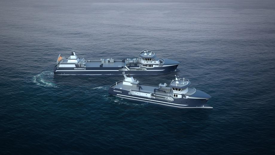 Así lucen los dos wellboats que Cemre construye para Seistar en Turquía. Ilustración: Salt Ship Design.