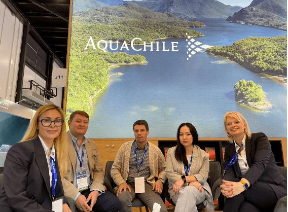Representantes de AquaChile en Rusia y Europa. Foto: AquaChile.