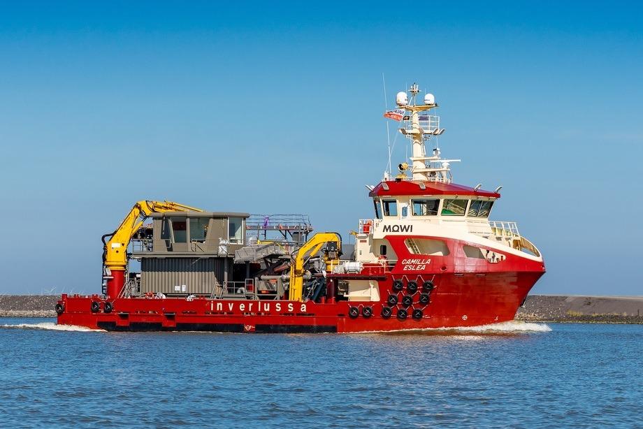 Está previsto que el nuevo buque comience a trabajar a finales de septiembre. Foto: Inverlussa Marine Services.