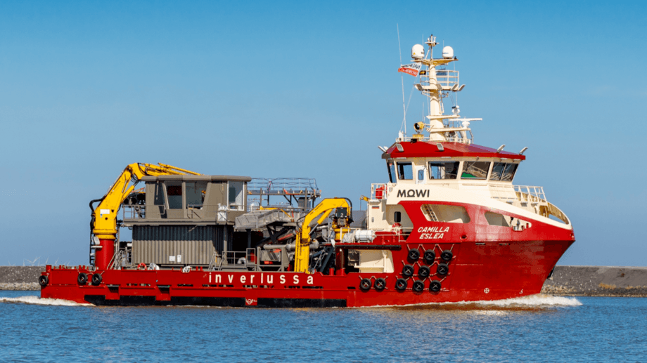 The Camilla Eslea is expected to begin work by the end of the month. Photo: Inverlussa Marine Services.