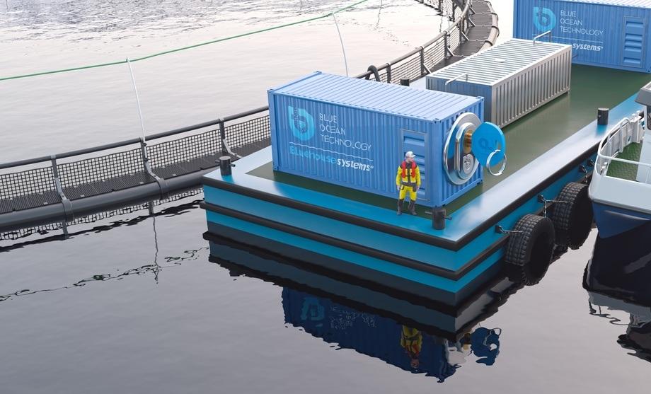 Sistema Plug & Farm de Blue Ocean Technology. Foto: Blue Ocean Technology.