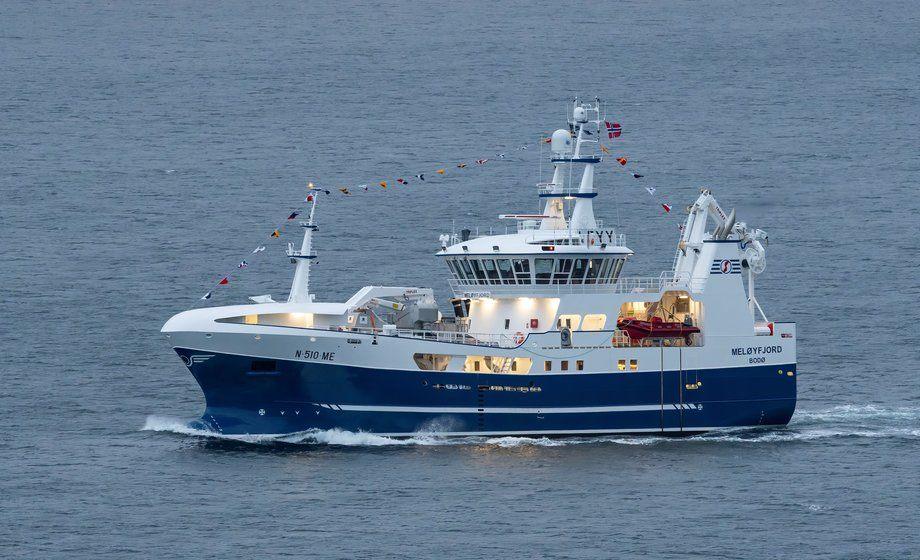 Nye «Meløyfjord» er overlevert fra Stadyard til Selfjordbuen AS. Foto: John Kråkenes