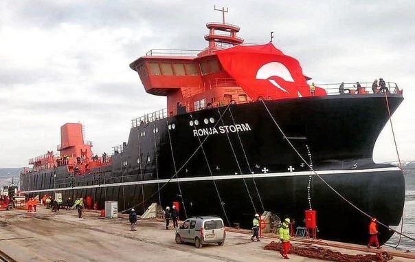 Wellboat más grande del mundo es botado en Turquía