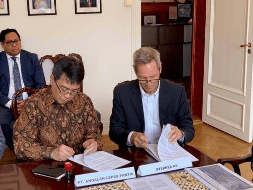 Sterner med rekordkontrakt til Indonesia