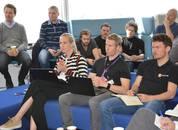 <p>Et strengt men erfarentdommerpanel vurderte de seks ulike konseptene.Nina Grieg i Grieg Seafood hadde medseg i dommerpanelet Kasper LøbergTangen i Deloitte, George Georg Baunach i Hatch, Björgólfur Hávarðsson fra Nce Seafood Innovation Cluster og Tore Notlandi IBM.</p>