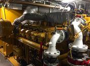 <p>Også hjelpemotoren er av det nyere slaget. Skiftet i 2016. Foto: Andrea Bærland</p>
