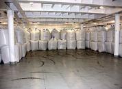 <p>Hver sekk inneholder 750 kg pellets. Foto: Andrea B&aelig;rland</p>