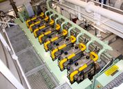 <p>Hovedmotor:1 x 2160 kW 4-Stroke LNG Engine / ROLLS ROYCE C26:33L8PG. Foto: Andrea B&aelig;rland</p>