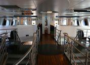 <p>Fergen har kapasitet til 600 passasjerer om gangen. Foto: Andrea Bærland</p>