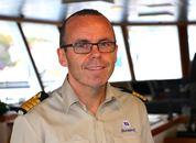 <p>Kaptein Morten Stakvik har jobbet i Olympic siden 2001. Foto: Andrea B&aelig;rland</p>