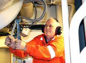 <p>Helgi Joensen, 2. maskinist. Foto: Vibeke Blich</p>