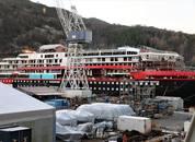 <p>Like ved ligger søsterskipet«Fridtjof Nansen», som nylig ble sjøsatt</p>