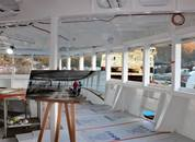 <p>I baugen er det bygget et observasjonsdekk for passasjerene</p>