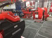 <p>Maskinrommet om bord det nye fartøyet som ble levert av Sletta Verft. Foto: Sletta Verft</p>